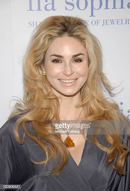 Author Elizabeth Tenhouten arrives at the preview party for Lia Sophia's Ianaya II jewelry collection at the Sunset Tower Hotel on July 14 2010 in...