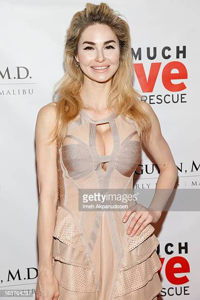 Author Elizabeth TenHouten attends the Makeovers For Mutts Fundraiser Honoring Maria Menounos at Peninsula Hotel on March 14 2013 in Beverly Hills...