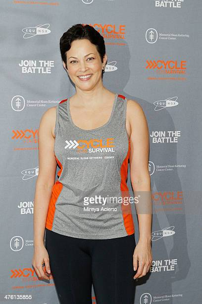 Author Ellie Krieger attends the 2014 Cycle For Survival Benefit Ride for Memorial Sloan Kettering Cancer Center at Equinox Rock Center on March 2...