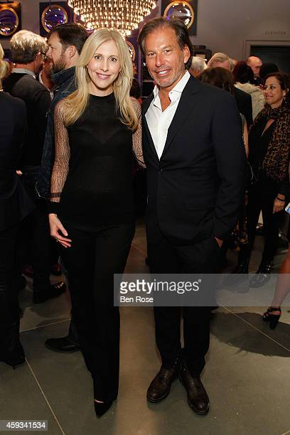Author Emily Giffin and Chairman and CEO of Restoration Hardware Gary Friedman attend the RH Atlanta The Gallery at the Estate in Buckhead opening...