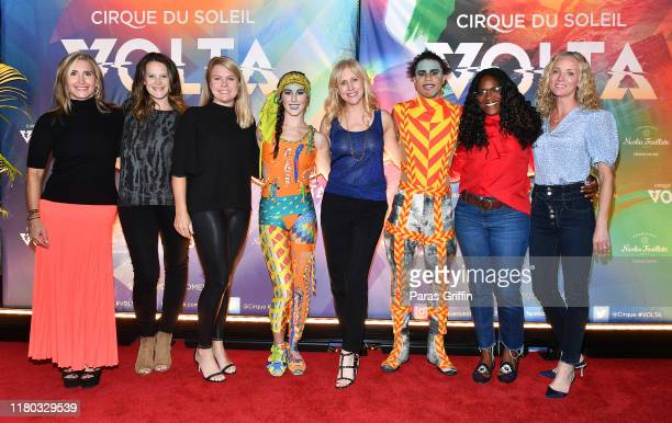 Author Emily Giffin and guests attend the Atlanta premiere of VOLTA By Cirque du Soleil at Atlantic Station on October 10 2019 in Atlanta Georgia