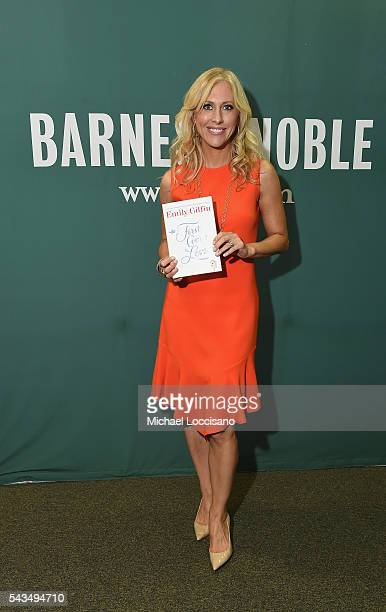 Author Emily Giffin signs copies of her book First Comes Love at Barnes Noble Union Square on June 28 2016 in New York City