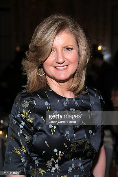 Author Entrepreneur Arianna Huffington attends The Berggruen Prize Gala Honoring Philosopher Charles Taylor at New York Public Library Astor Hall on...