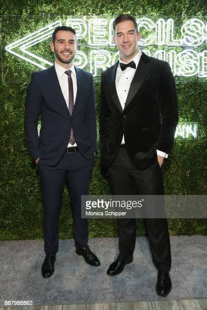 Author entrepreneur PoP Founder Adam Braun and Author entrepreneur and Philanthropist Award Honoree Lewis Howes attends the Pencils of Promise Annual...