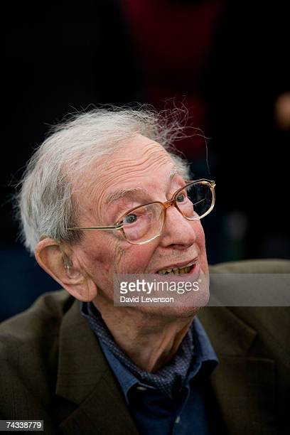 Author Eric Hobsbawm poses for a portrait at The Guardian Hay Festival 2007 held at Hay on Wye on May 26 2007 in Powys Wales The festival runs until...