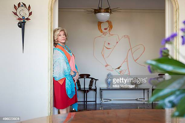 Author Erica Jong is photographed for The Observer New Review Magazine on October 7, 2015 in New York City.