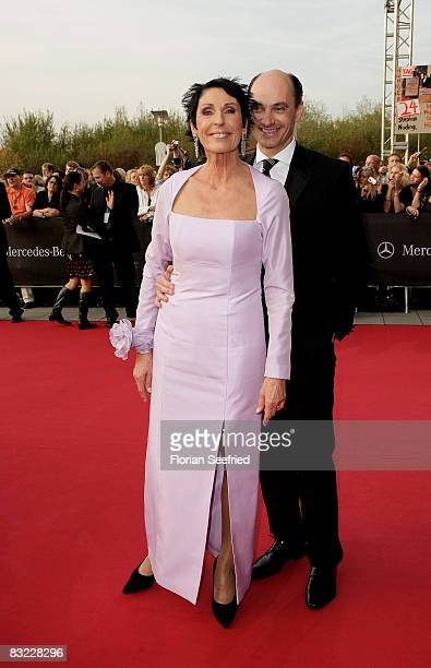 Author Erika Berger and guest arrive for the German TV Award 2008 at the Coloneum on October 11 2008 in Cologne Germany