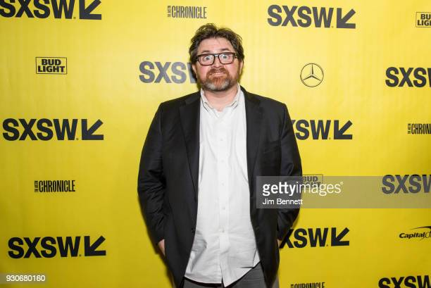 Author Ernest Cline walks the red carpet at the world premiere of Ready Player One during the SXSW Film Festival on March 11 2018 in Austin Texas