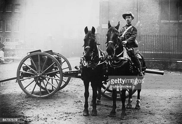 Author Erskine Childers as a volunteer in the Honourable Artillery Company a regiment of the British Army circa 1900