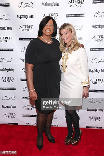 "Author Evie T. McDuff and Dr. Robi Ludwig attend the New York premiere of ""Altered Minds"" held at the Helen Mills Theater on November 18, 2015 in New..."