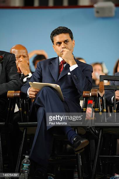 Author Fareed Zakaria attends the Annual Meeting of the Harvard University Alumni Association at the 2012 Harvard Commencement on May 24 2012 in...