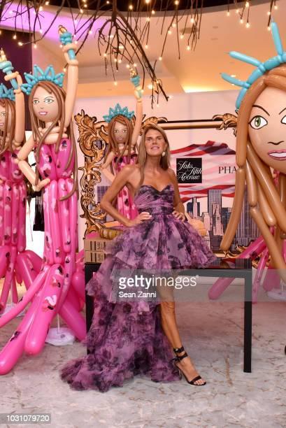 Author Fashion Journalist Anna Dello Russo attends as Saks celebrates AdR Book Beyond Fashion By Anna Dello Russo with a book signing at Saks Fifth...
