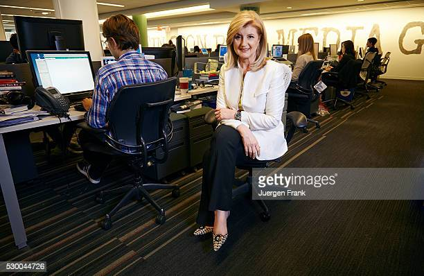 Author founder of The Huffington Post the founder and CEO of Thrive Global Arianna Huffington is photographed for Der Spiegel Magazine on May 17 2013...