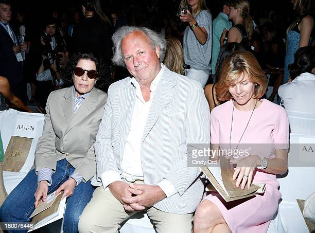 Author Fran Lebowitz Vanity Fair Editor in Chief Graydon Carter and Anna Scott attend the Diane Von Furstenberg fashion show during MercedesBenz...