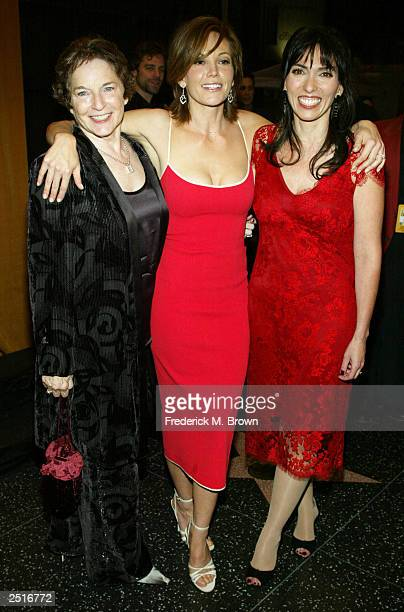 Author Frances Mayes actress Diane Lane and director Audrey Wells attend the after party for the film premiere of Under The Tuscan Sun at the...