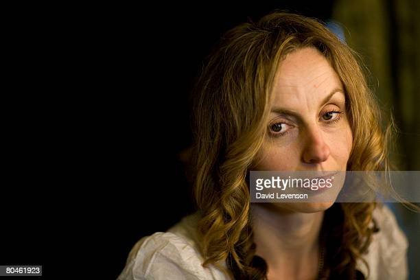 Author Frances Wilson poses for a portrait at the annual Sunday Times Oxford Literary Festival held at Christ Church on April 1 2008 in Oxford England