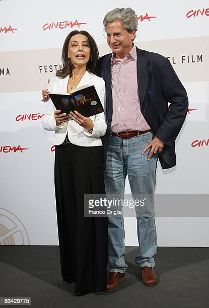Author Francesco D'Adamo and UNICEF ambassador Maria Rosalia Omaggio attend the Storia Di Un Bambino Che Non Aveva Paura Photocall during the 3rd...