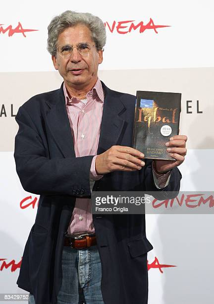 Author Francesco D'Adamo attends the Storia Di Un Bambino Che Non Aveva Paura Photocall during the 3rd Rome International Film Festival held at the...
