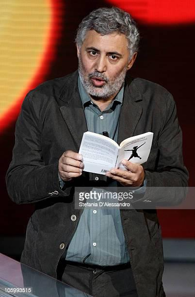 Author Francesco Piccolo attends Che Tempo Che Fa Italian TV Show on October 24 2010 in Milan Italy