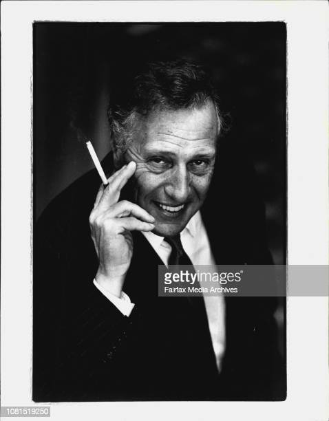 Author Frederick Forsyth relaxing after speaking about his new release Fist of God at The Hilton Hotel today June 24 1994