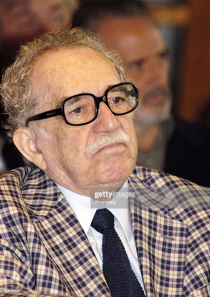 Author Gabriel Garcia Marquez attends an event at the Nation : News Photo