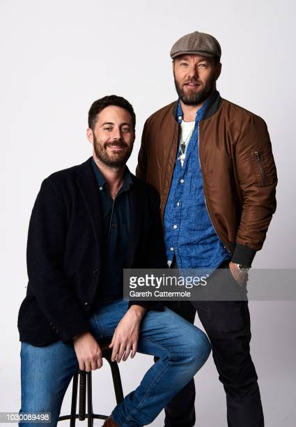 Author Garrard Conley and filmmaker/actor Joel Edgerton from the film 'Boy Erased' pose for a portrait during the 2018 Toronto International Film...