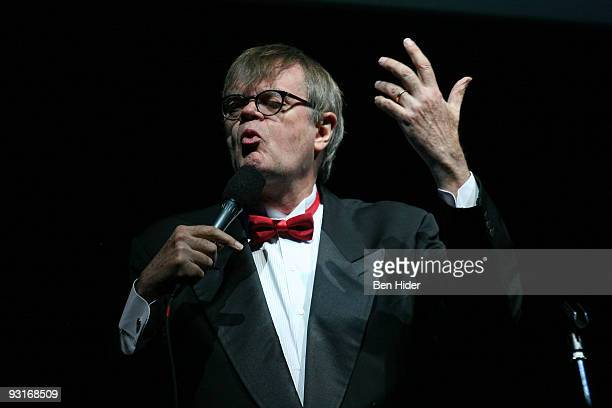 Author Garrison Keillor speaks during the 2009 Moth Ball at Capitale on November 17 2009 in New York City