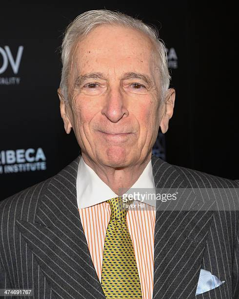 """Author Gay Talese attends the Tribeca Film Istitute's 20th Anniversary Benefit screening of """"A Bronx Tale"""" at Village East Cinema on February 24,..."""