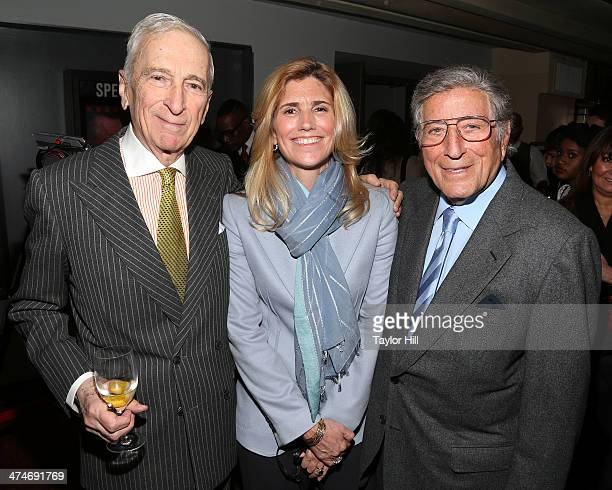 """Author Gay Talese, Susan Benedetto, and Tony Bennett attend the Tribeca Film Istitute's 20th Anniversary Benefit screening of """"A Bronx Tale"""" at..."""
