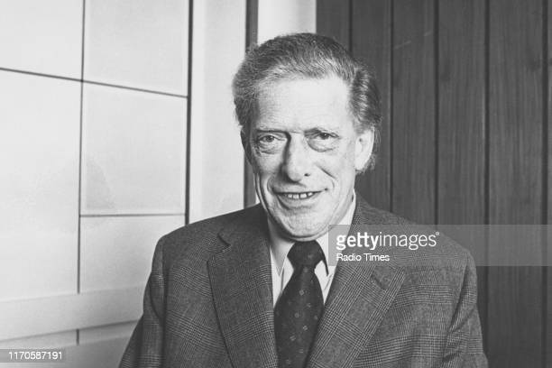Author George Lascelles, or Lord Harewood, in the studio for the BBC Radio 4 series 'Desert Island Discs', 1982.