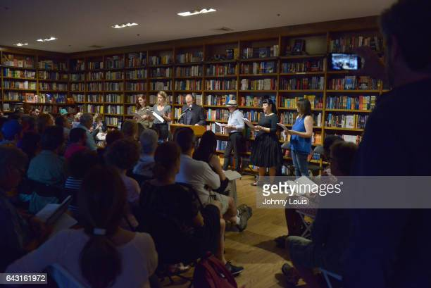 Author George Saunders reads from his new book 'Lincoln in the Bardo' with the help of Cristina Russell Gaël LeLamer Viv Evans Cristina Nosti and...