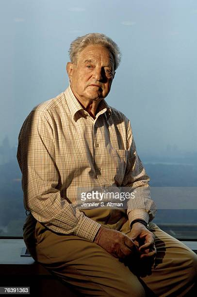 Author George Soros is photographed for the Los Angeles Times on July 12 2006 in New York City