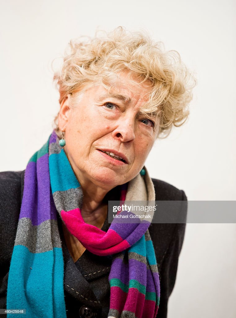 Author Gesine Schwan attends a panel discussion at Frankfurt Book Fair on October 16, 2015 in Frankfurt, Germany.
