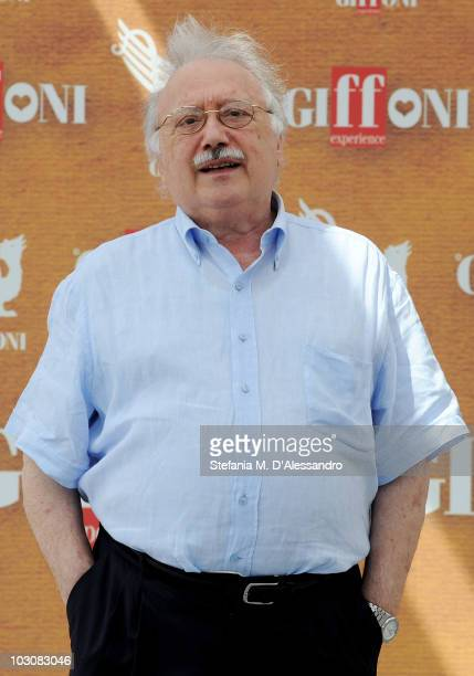 Author Gianni Mina attends a photocall during the Giffoni Experience on July 25 2010 in Giffoni Valle Piana Italy