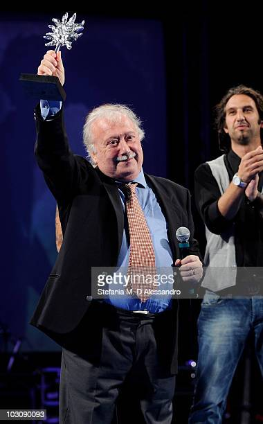 Author Gianni Mina receives the 'Vittorio Mezzogiorno Award' during the Giffoni Experience 2010 on July 25 2010 in Giffoni Valle Piana Italy