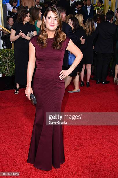 Author Gillian Flynn attends the 72nd Annual Golden Globe Awards at The Beverly Hilton Hotel on January 11 2015 in Beverly Hills California