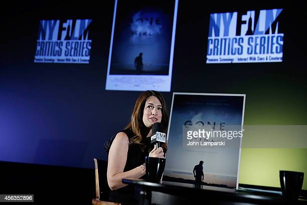 Author Gillian Flynn speaks at the New York Film Critic Series Screening Of Gone Girl at AMC Empire on September 29 2014 in New York City