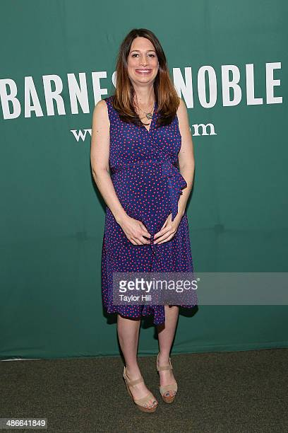 Author Gillian Flynn visits the Barnes & Noble Union Square on April 24, 2014 in New York City.