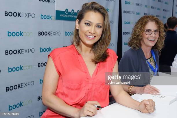 Author Ginger Zee signs copies of her book 'Natural Disaster' during the BookExpo 2017 at Javits Center on June 2 2017 in New York City