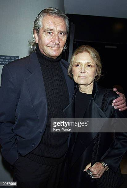 Author Gloria Steinem and her husband David Bale Christian Bale's father arrive at the premiere of 'Laurel Canyon' at the Harmony Theater on March 4...