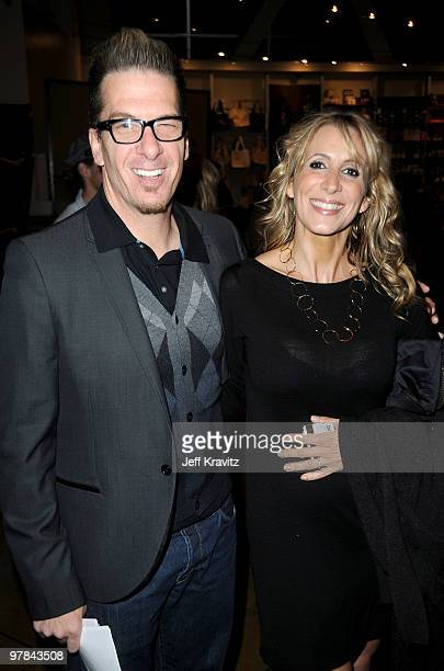 Author Greg Behrendt and guest arrive at the premiere of 'Greenberg' presented by Focus Features at ArcLight Hollywood on March 18 2010 in Hollywood...