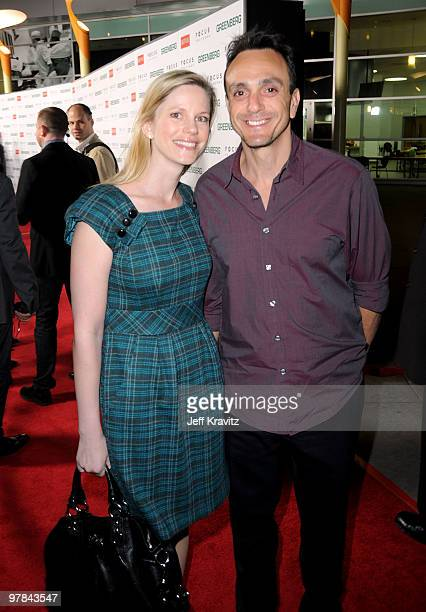 Author Hank Azaria and guest arrive at the premiere of Greenberg presented by Focus Features at ArcLight Hollywood on March 18 2010 in Hollywood...