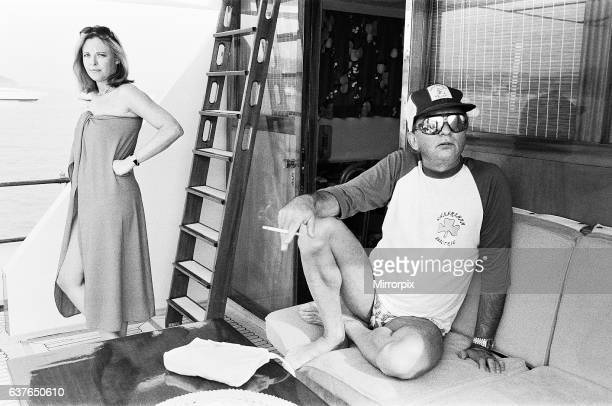 Author Harold Robbins takes a day off from writing his new novel Goodbye Janette to spend the day relaxing on his yacht Gracara The yacht is moored...