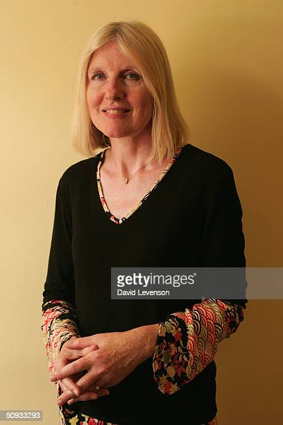 Author Helen Dunmore poses for a portrait at 'The Guardian Hay Festival 2004' held on June 6 2004 at Hay on Wye in Wales The festival runs until June...