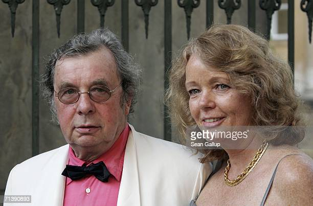 Author Hellmuth Karasek and his wife Armgard attend the wedding of German TV host Guenther Jauch on July 7 2006 in Potsdam Germany
