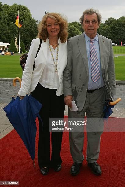 Author Hellmuth Karasek and his wife Armgard Seegers-Karasek attend the summer reception of German President Horst Koehler at Bellevue Castle on July...
