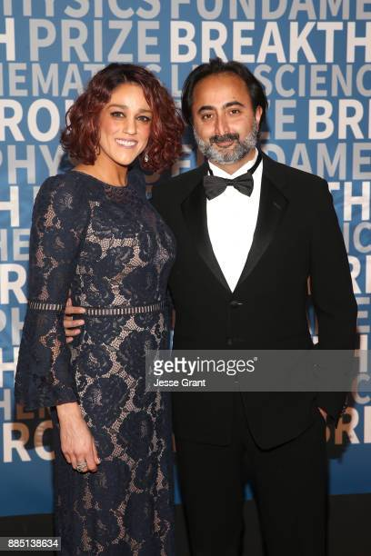 Author Hemant Taneja and guest attends the 2018 Breakthrough Prize at NASA Ames Research Center on December 3 2017 in Mountain View California