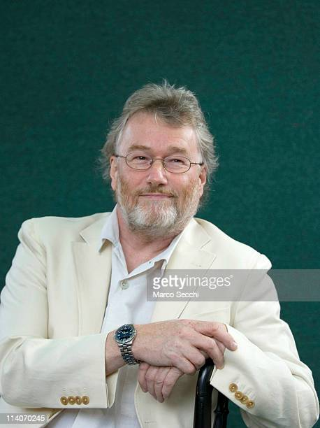 Author Iain Banks poses during a portrait session held at the Edinburgh Book Festival on August 16, 2006 in Edinburgh, Scotland.