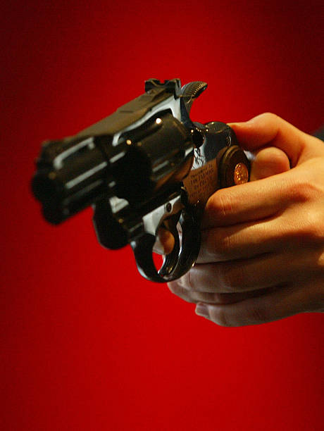 Ian Fleming's Colt Python  357 Magnum Auction - Photocall