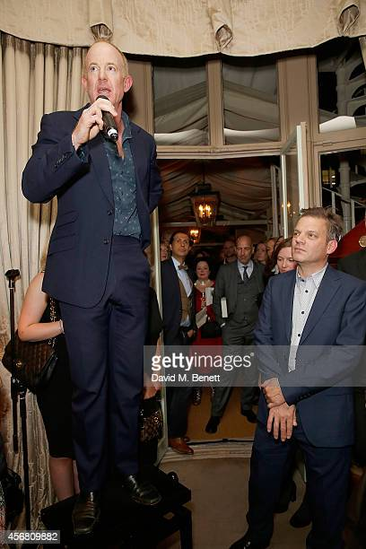 Author Ian Kelly and publisher Paul Baggaley at Mark's Club for the Vivienne Westwood Autobiography Launch on October 7 2014 in London England